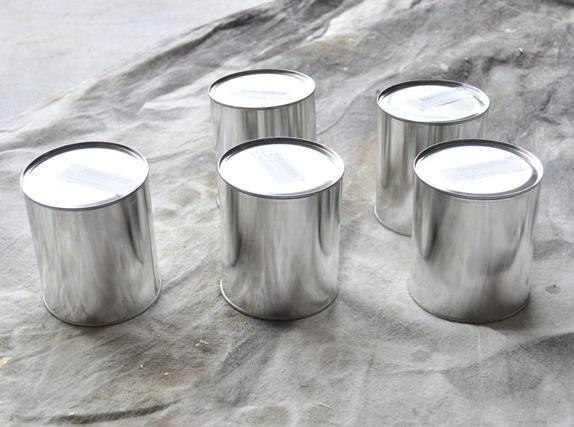 plain paint cans