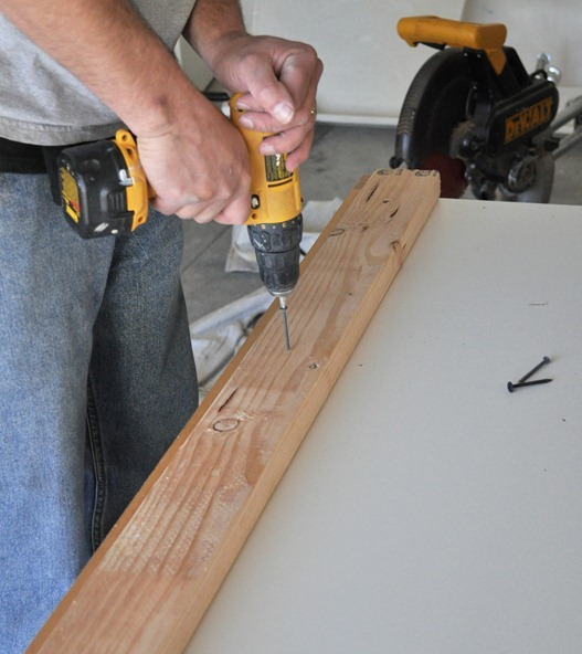 screw 2 x 4s to base