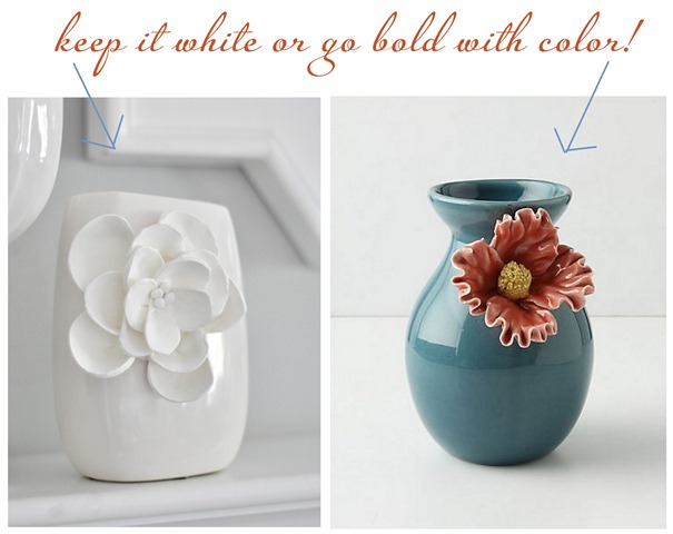 white on white or color label