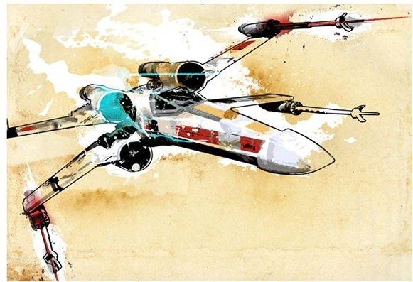 x wing pop art