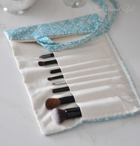 blue makeup brush holder cg