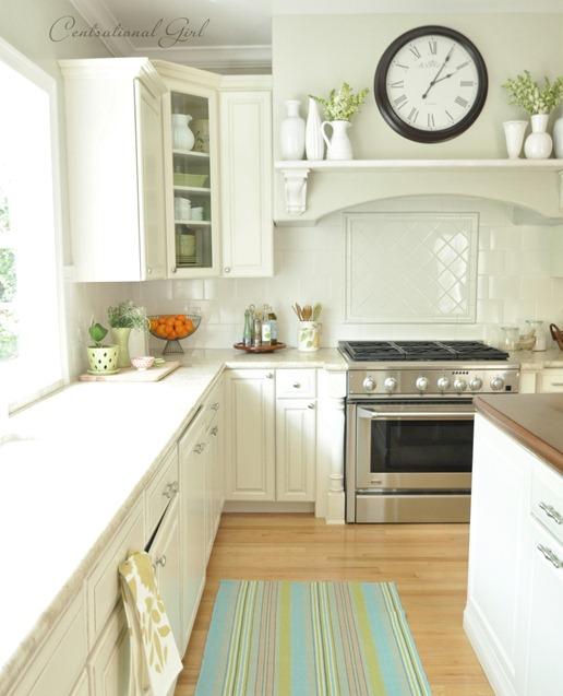cg white kitchen range wall