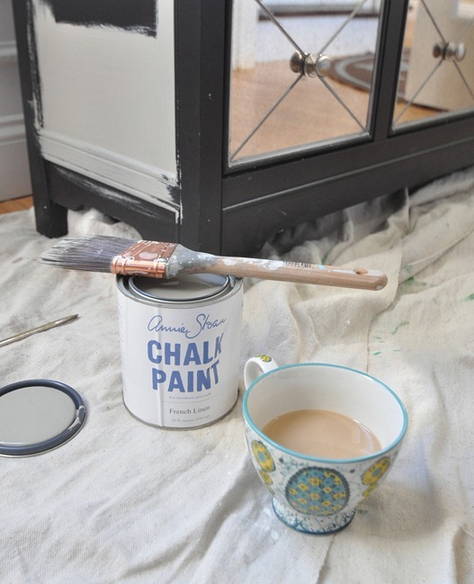 chalk paint and coffee