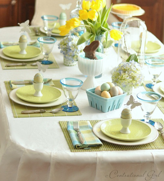 An easter table centsational girl - Easter table decorations meals special ...