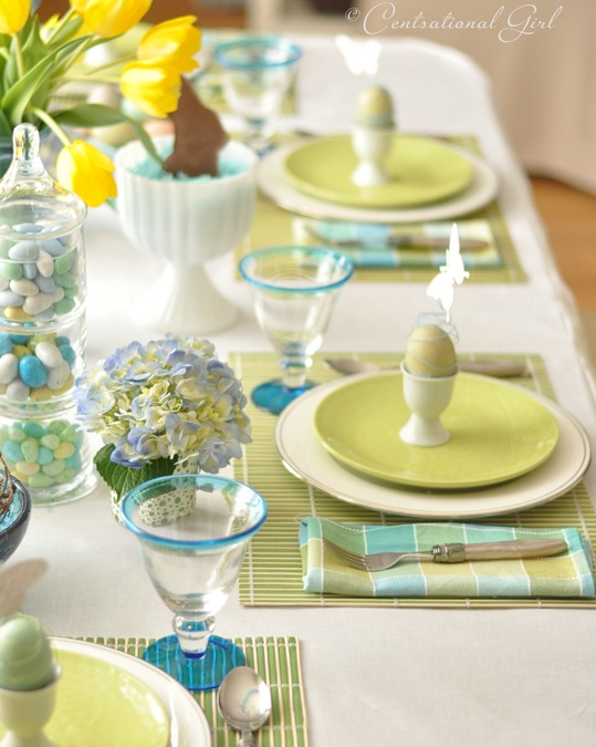An easter table centsational girl for Easter dinner table setting ideas