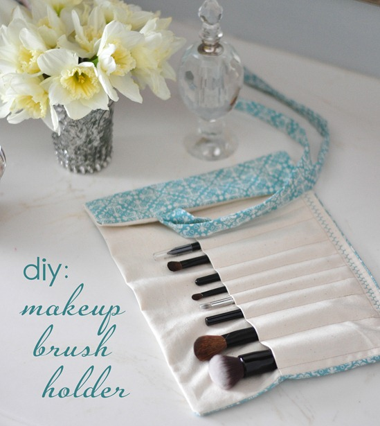 fabric makeup brush holder cg