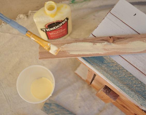 glue to backside
