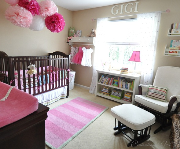 pink and brown nursery cg