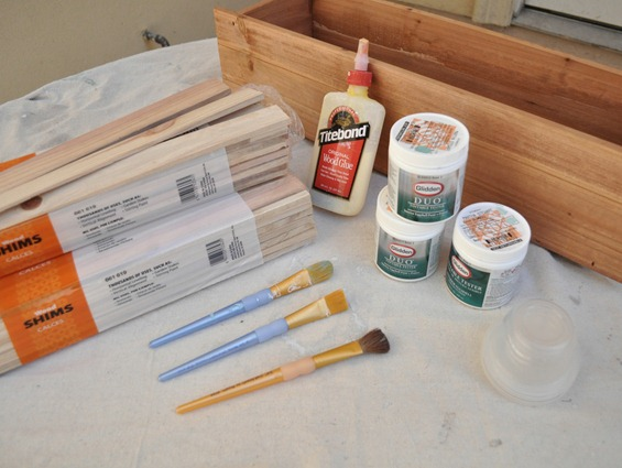 planter box supplies