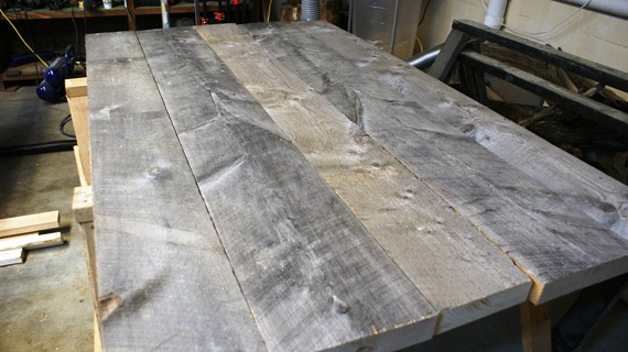 Building a Reclaimed Wood Table | Centsational Girl