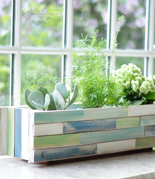 wood shim window box planter centsational style. Black Bedroom Furniture Sets. Home Design Ideas