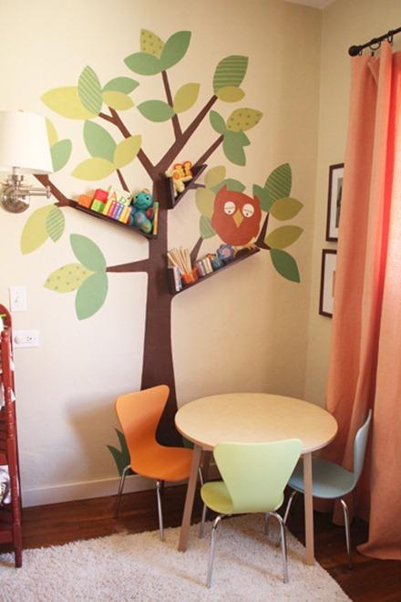 tree branch diy bookshelves pepper blog