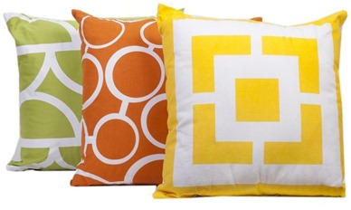 two toss pillows