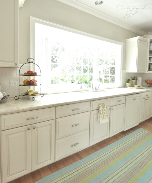 Spring touches kitchen faqs centsational girl for Kitchen colors with off white cabinets