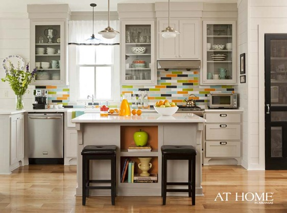 at home in arkasas gray kitchen