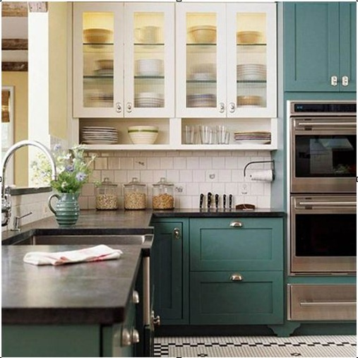 bhg teal kitchen