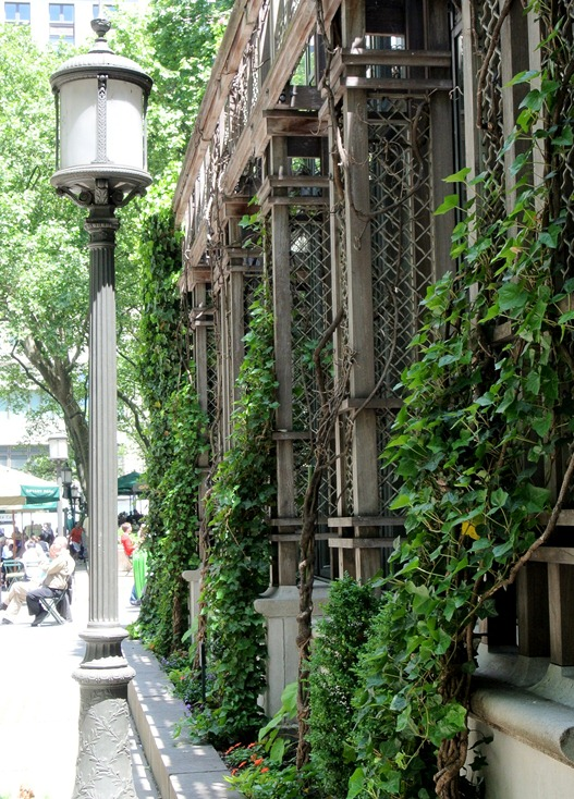 bryant park ivy covered restaurant