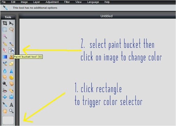 click paint bucket tool