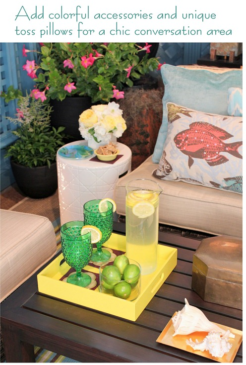 colorful outdoor accessories