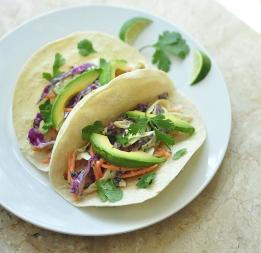 fish tacos chipotle lime cilantro slaw