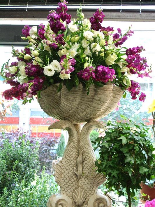 flowers in urn
