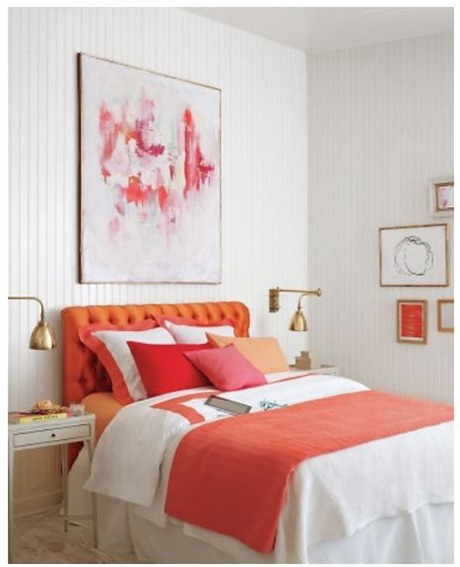 martha stewart pink and orange bedroom