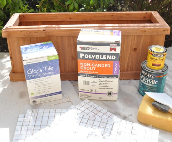 mosaic tile planter supplies
