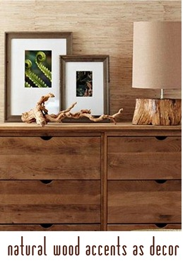 natural wood accents
