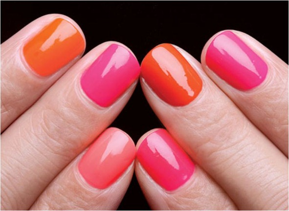 pink and orange nails nymag