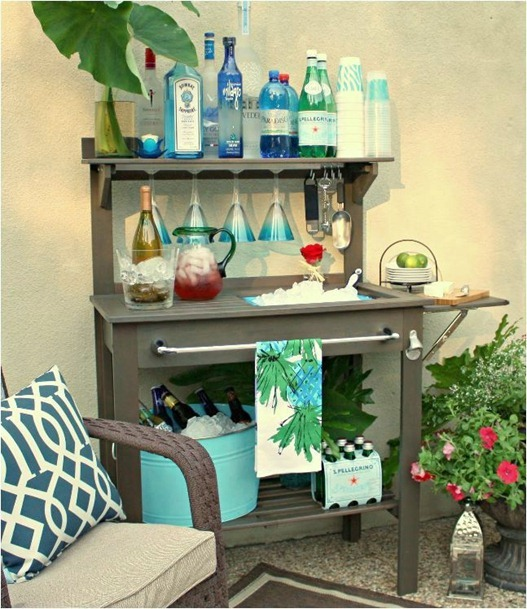 potting bench turned bar thecreativityexchange
