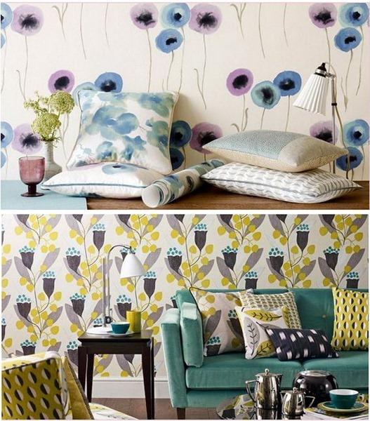 sanderson floral wallpaper