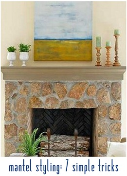 simple ways to style mantel