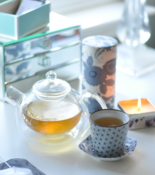 tea at desk image