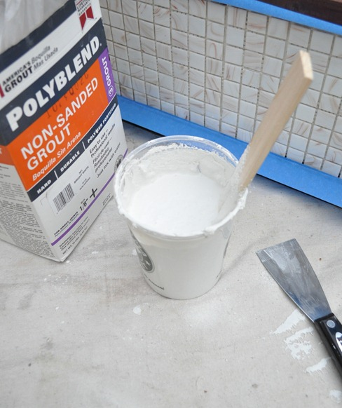 white grout