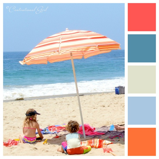 beach umbrella color palette