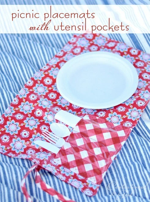 Picnic Placemats With Utensil Pockets Centsational Style