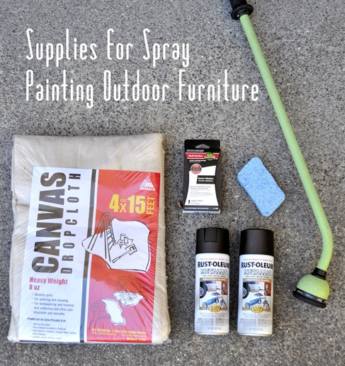 sanding wedge some outdoor spray paint a spray paint gun not shown. Black Bedroom Furniture Sets. Home Design Ideas