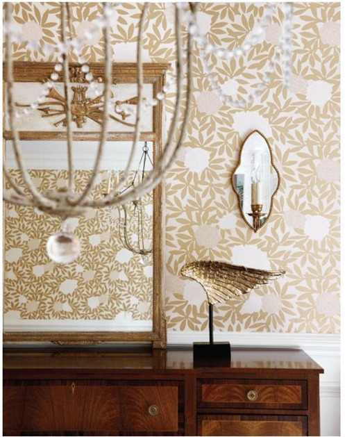 wallpapered dining room muse interiors