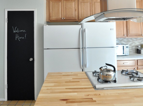 Alma project kitchen remodel centsational girl for Chalkboard appliance paint
