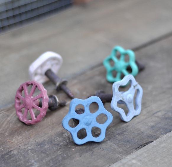 colorful faucet knobs
