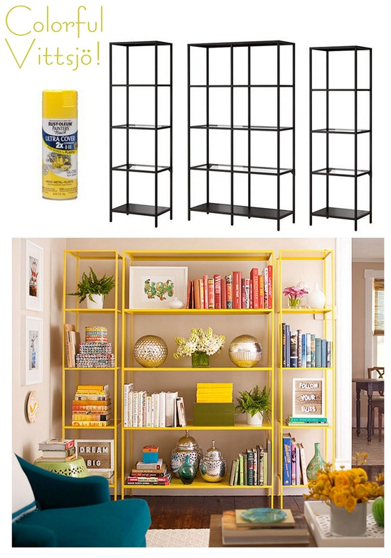 colorful vittsjo shelving