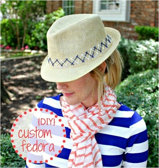 diy embroidered fedora hisugarplum