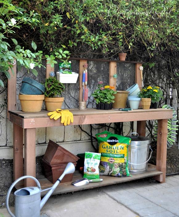 Diy Potting Bench Centsational Style