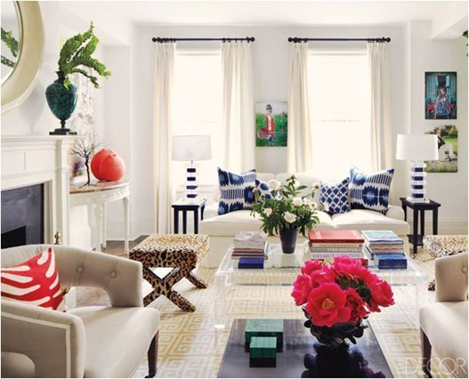 elle decor living room
