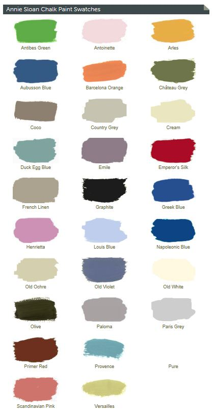 ... can now purchase any of the Annie Sloan Chalk Paint colors through