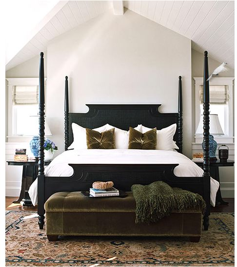 Black four poster traditional for Bedroom designs with four poster beds