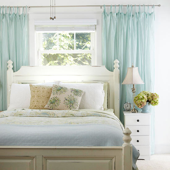 Ten things to hang above the bed centsational girl for Interior design window behind bed
