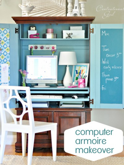computer armoire makeover cg