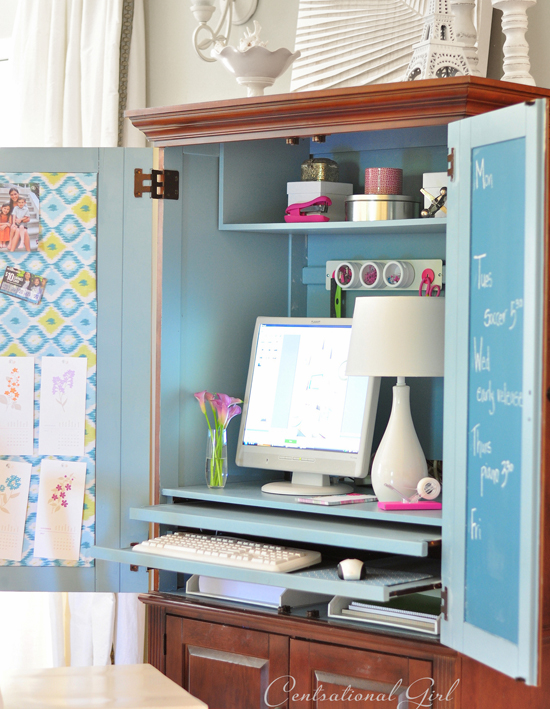 Creative Get Your Tools Ready Home Officeinabox An Armoire Just Might Be The Perfect Place To Hide A Computer Or Your Billpaying Supplies When Theyre Not Needed Often The Cabinets Have Builtin Power Strips, Making It Easy To Plug In Your