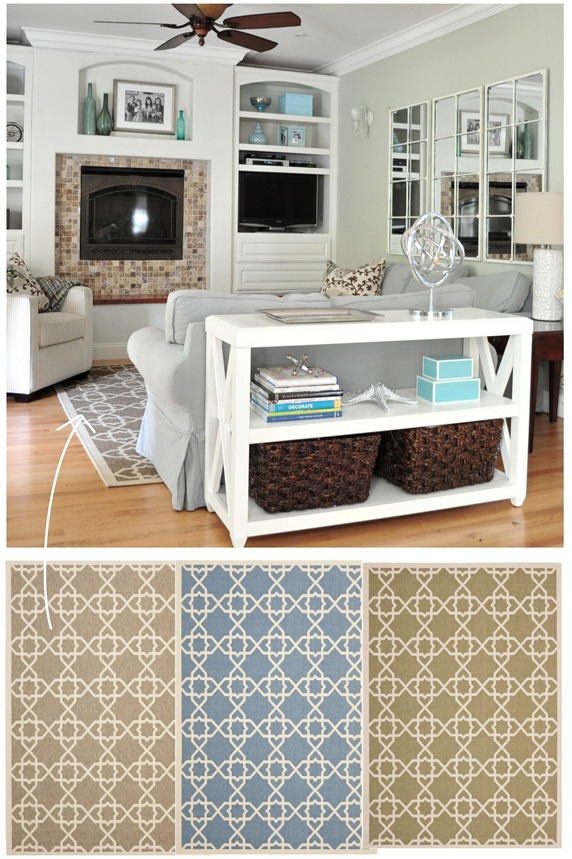 rug in family room